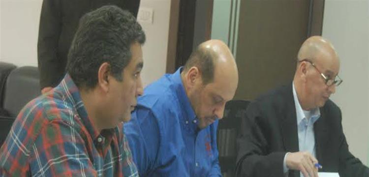 محمود الشامي مع أعضاء اتحاد الكرة