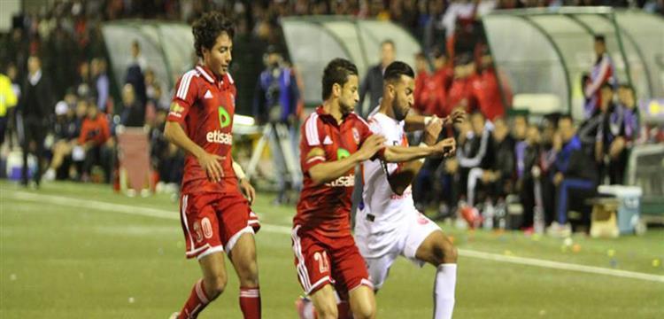 من المباراة السابقة بين الأهلي والمغرب التطواني