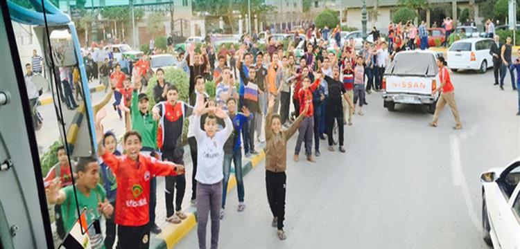 صورة لجمهور الأهلي من صفحة جاريدو