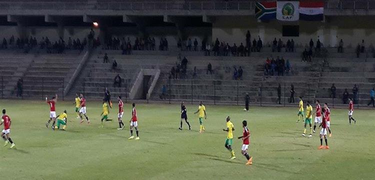 من مباراة مصر وجنوب افريقيا الودية