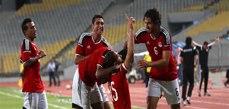 لقطة أرشيفية للاعبي المنتخب المصري