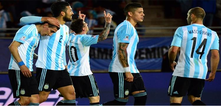 صورة أرشيفية للاعبي الأرجنتين