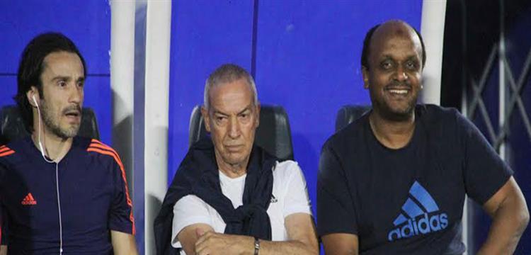 إسماعيل يوسف مع جيسوالدو فيريرا المدير الفني للزمالك