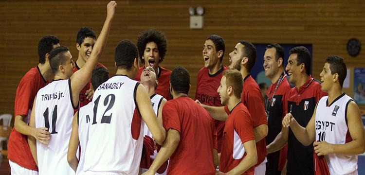 لاعبو منتخب مصر لكرة السلة