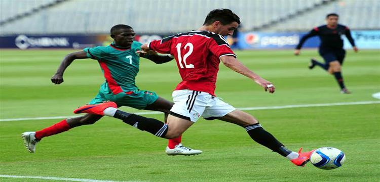 محمد حمدي زكي في لقطة من المباراة