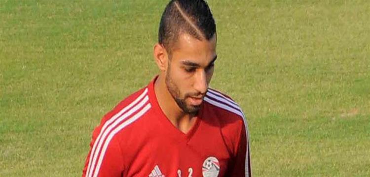 عمرو السولية نجم الإسماعيلي بقميص المنتخب المصري