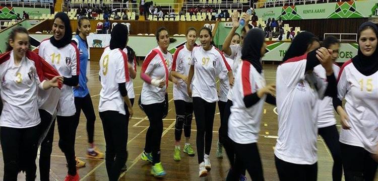 لاعبات منتخب الناشئات المصري لكرة اليد