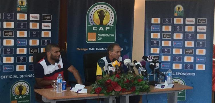 فتحي مبروك وعماد متعب في المؤتمر الصحفي