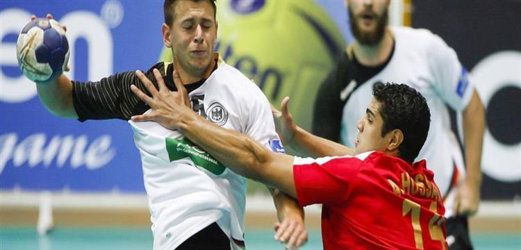 صورة من مباراة منتخب مصر والمانيا في مونديال الشباب