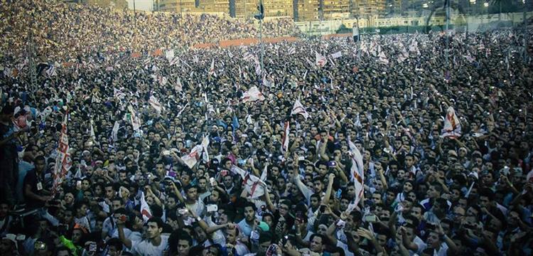 جماهير الزمالك في ملعب أبو رجيلة.. حلمي زامورا سابقاً