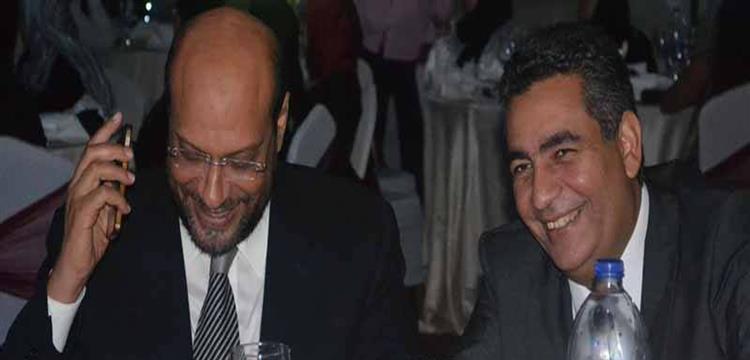 أحمد مجاهد بجانب محمود الشامي