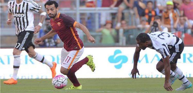 محمد صلاح في لقطة من مباراة سابقة بين روما ويوفينتوس