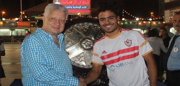إبراهيم عبد الخالق مع مرتضى منصور