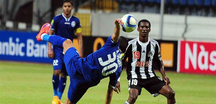 لقطة من مباراة الذهاب بين سموحة ومازيمبي