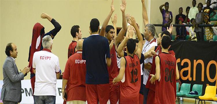 لاعبو منتخب الناشئين المصري لكرة السلة