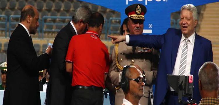 علاء عبد الصادق مع مرتضى على منصة التتويج