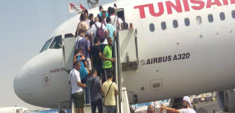 صورة أرشيفية لجماهير الزمالك على الخطوط الجوية التونسية