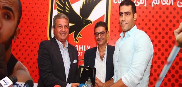 إيهاب عبد الرحمن مع وزير الرياضة ورئيس الأهلي