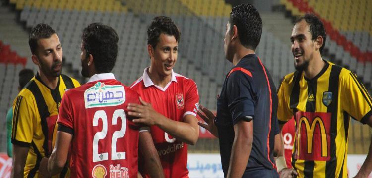 عمرو جمال في المباراة الماضية لفريقه