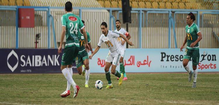 أحمد رؤوف في لقطة من المباراة