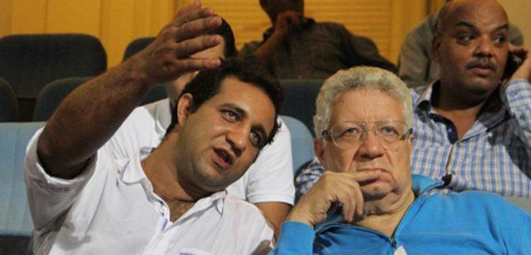 أحمد مرتضى منصور مع رئيس الزمالك
