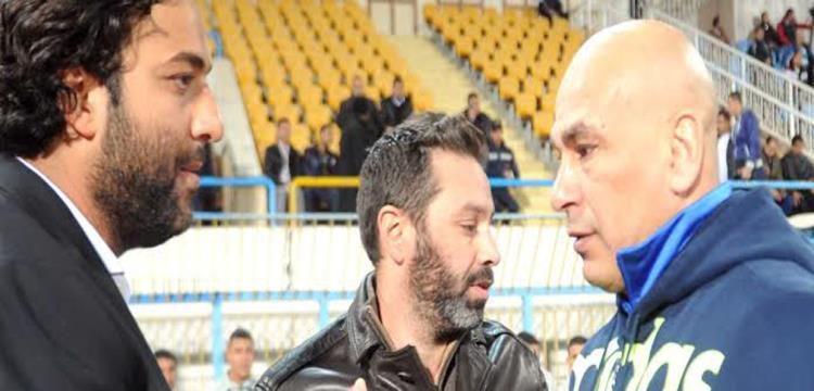 إبراهيم حسن يصافح ميدو قبل المباراة
