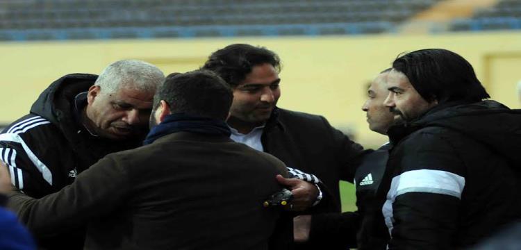 ميمي عبدالرازق وميدو قبل المباراة