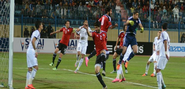 لقطة من مباراة مصر والأردن