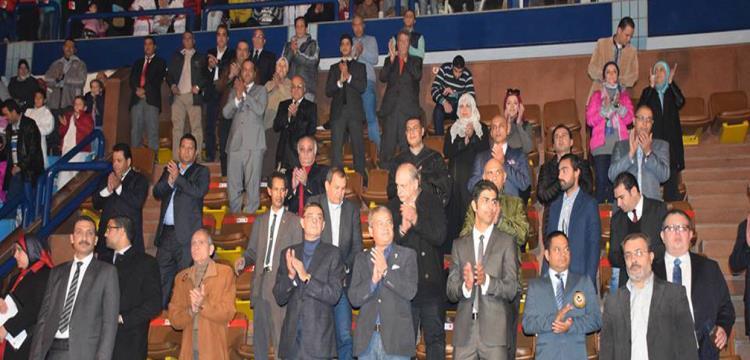 وزير الرياضة أثناء افتتاح بطولة الكاراتيه