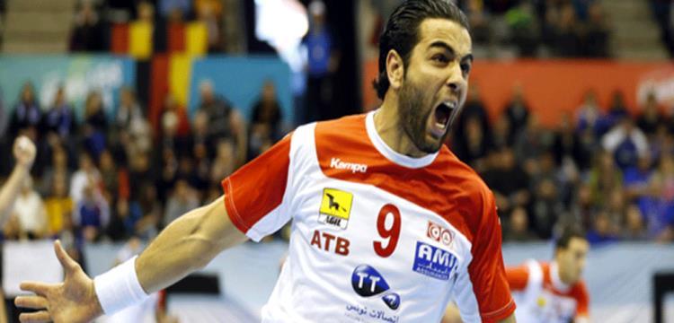 أمين بنور لاعب المنتخب التونسي لكرة اليد