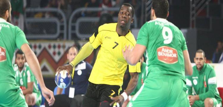 صورة من مباراة انجولا والجزائر في بطولة افريقيا لليد