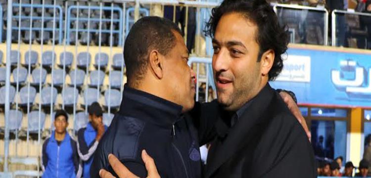 علاء عبد العال مع ميدو قبل المباراة
