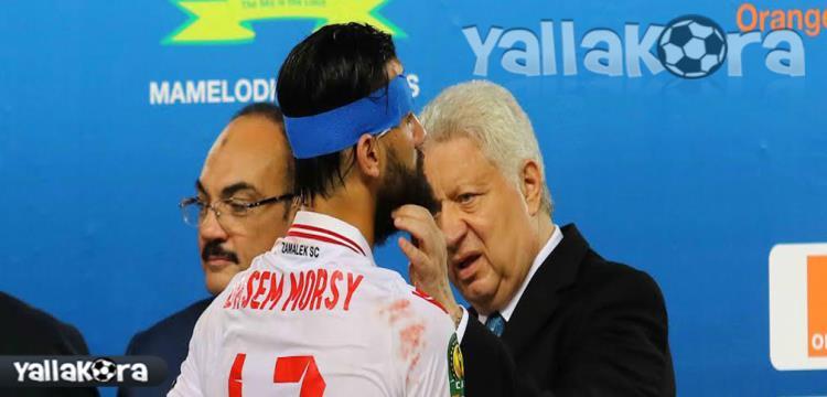 مرتضى منصور مع باسم مرسي في صورة أرشيفية