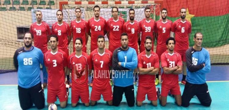 فريق يد الأهلي .. الصورة من الموقع الرسمي للنادي