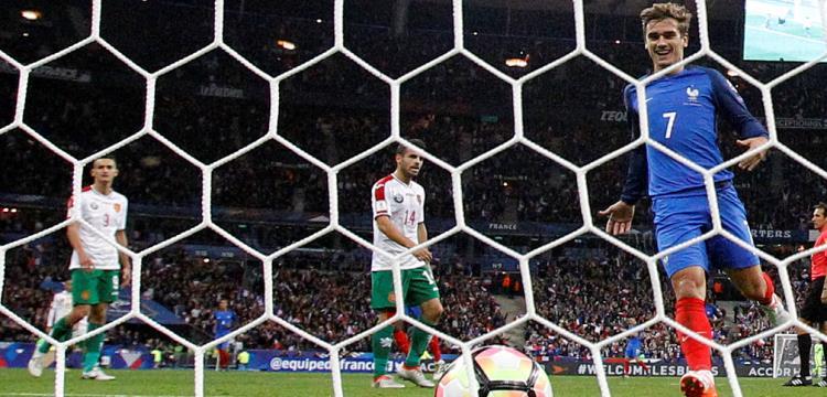 من مباراة فرنسا وبلغاريا