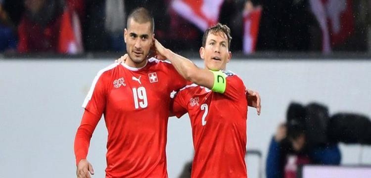 لاعبو المنتخب السويسري