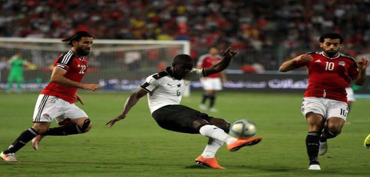 باسم مرسي خلال مباراة غانا