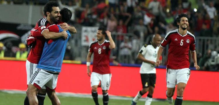 من مباراة مصر وغانا