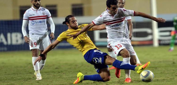 محمد جودة مهاجم طنطا في لقطة من المباراة