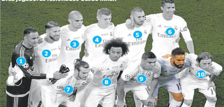 الإصابات ضربت ريال مدريد هذا الموسم
