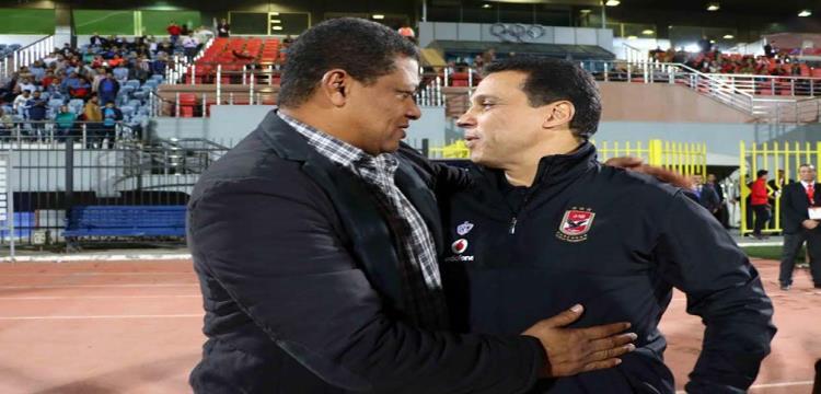 علاء عبد العال مع البدري قبل المباراة
