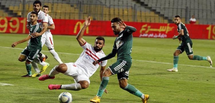 من مباراة الزمالك والمصري