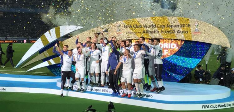 فرحة لاعبو ريال مدريد