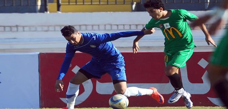 محمد حمدي زكي خلال المباراة