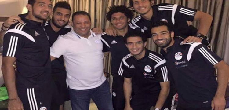 ضياء السيد مع نجوم منتخب مصر