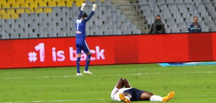 شريف إكرامي في لقطة من المباراة