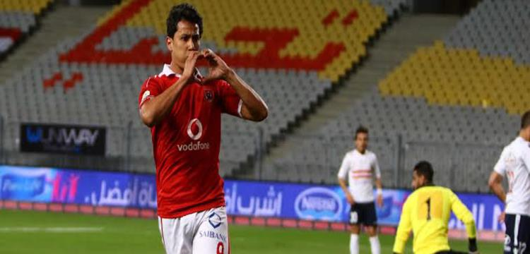 عمرو جمال مهاجم الأهلي ومنتخب مصر