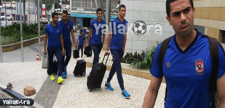لاعبو الأهلي يتجهون لمطار لواندا