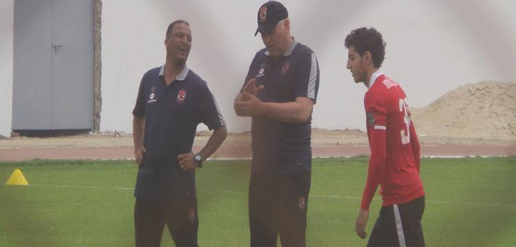 مارتن يول بجانب أسامه عرابي ومحمد هاني