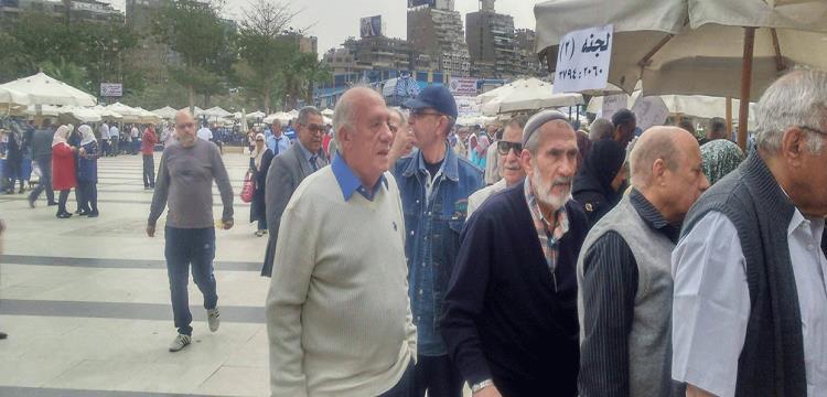جلال إبراهيم رئيس نادي الزمالك السابق في أحد لجان الجمعية العمومية